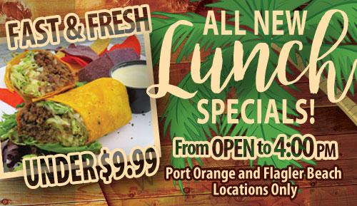 lunch specials under ten dollars fast fresh hidden treasure port orange and flagler beach