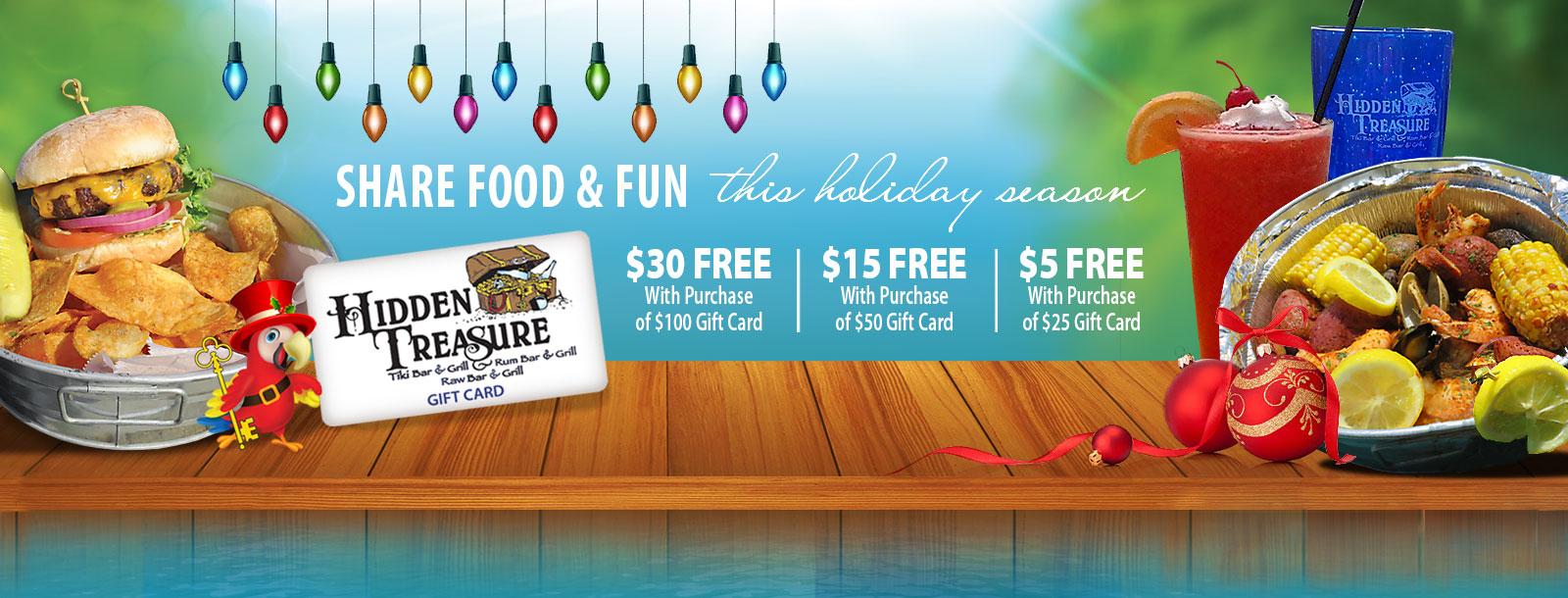 Holiday Gift Cards Christmas 2018 Daytona Beach