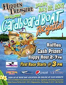 Cardboard boat regatta link to event flyer hidden treasure port orange fl