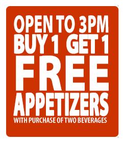 buy 1 get 1 appetizer special hidden treasure restaurants