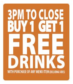buy 1 get 1 drink special hidden treasure restaurants