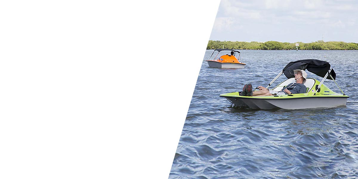 electric go float boat rentals port orange rose bay water sports at hidden treasure