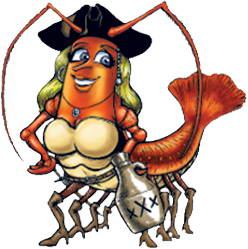hidden treasure ponce inlet she shrimp mascot