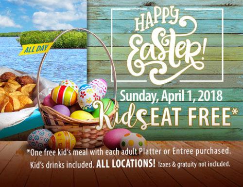 easter sunday kids eat free hidden treasure restaurants restrictions apply