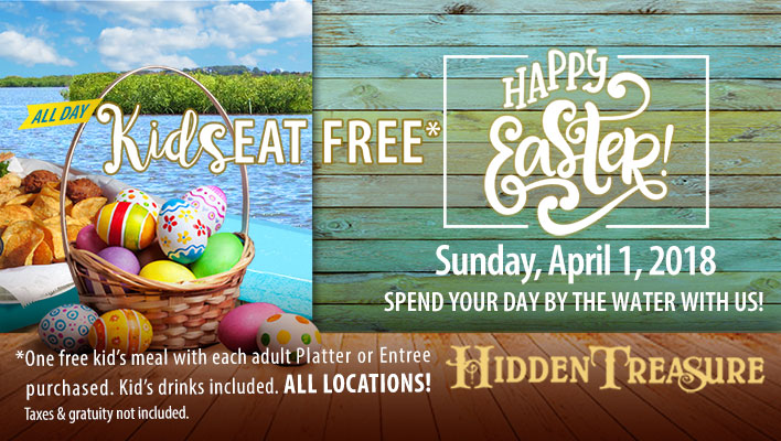 easter hidden treasure kids eat free restrictions apply
