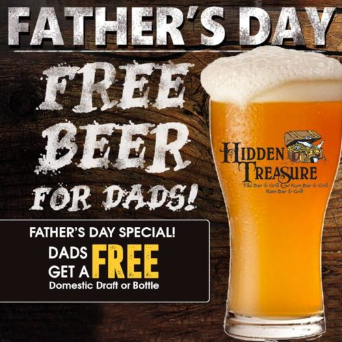 free domestic beer for dad fathers day hidden treasure