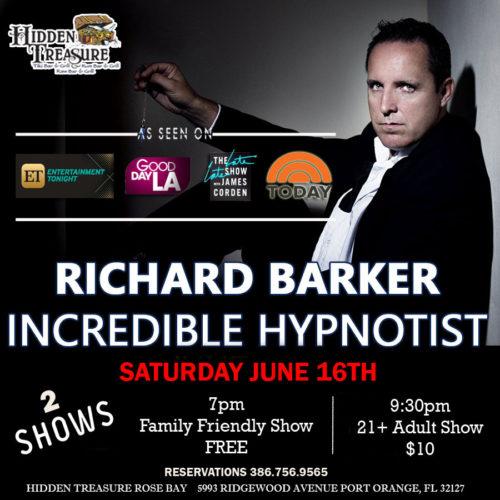 richard barker incredible hypnotist at hidden treasure port orange