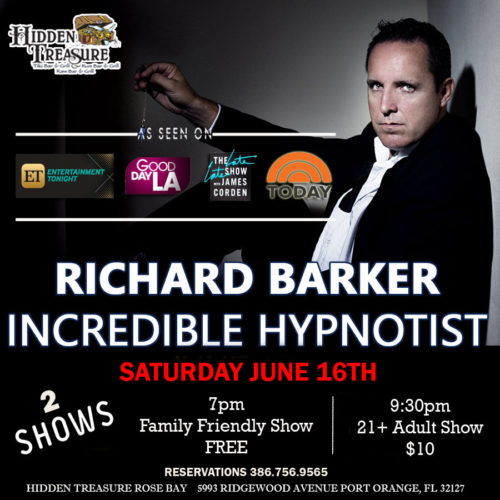 richard barker incredible hypnotist at hidden treasure port orange