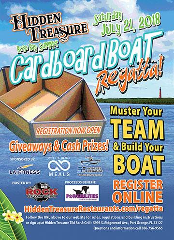 cardboard boat regatta competitor info flyer