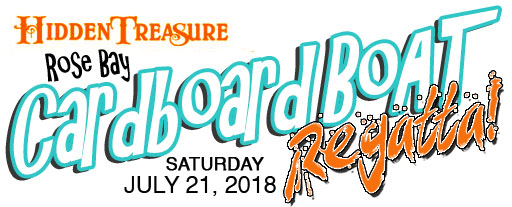 rose bay cardboard boat races 2018 registration graphic