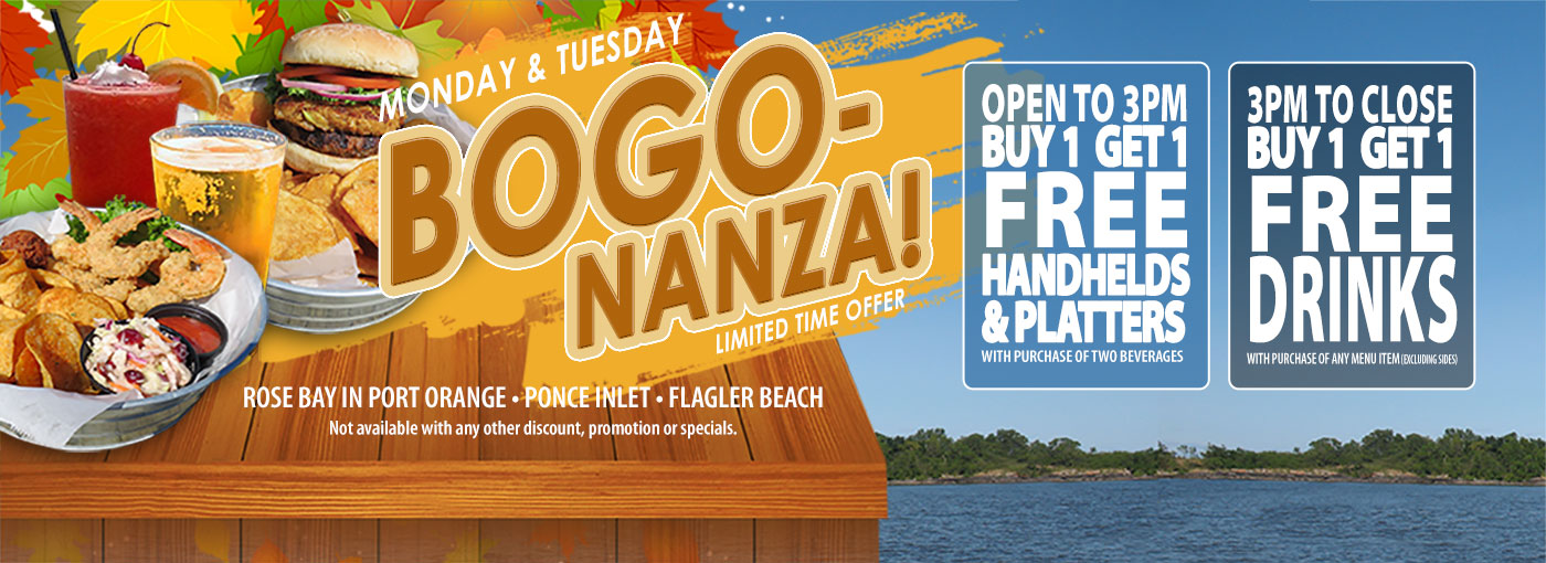 bogo specials hidden treasure restaurants port orange ponce inlet flagler beach