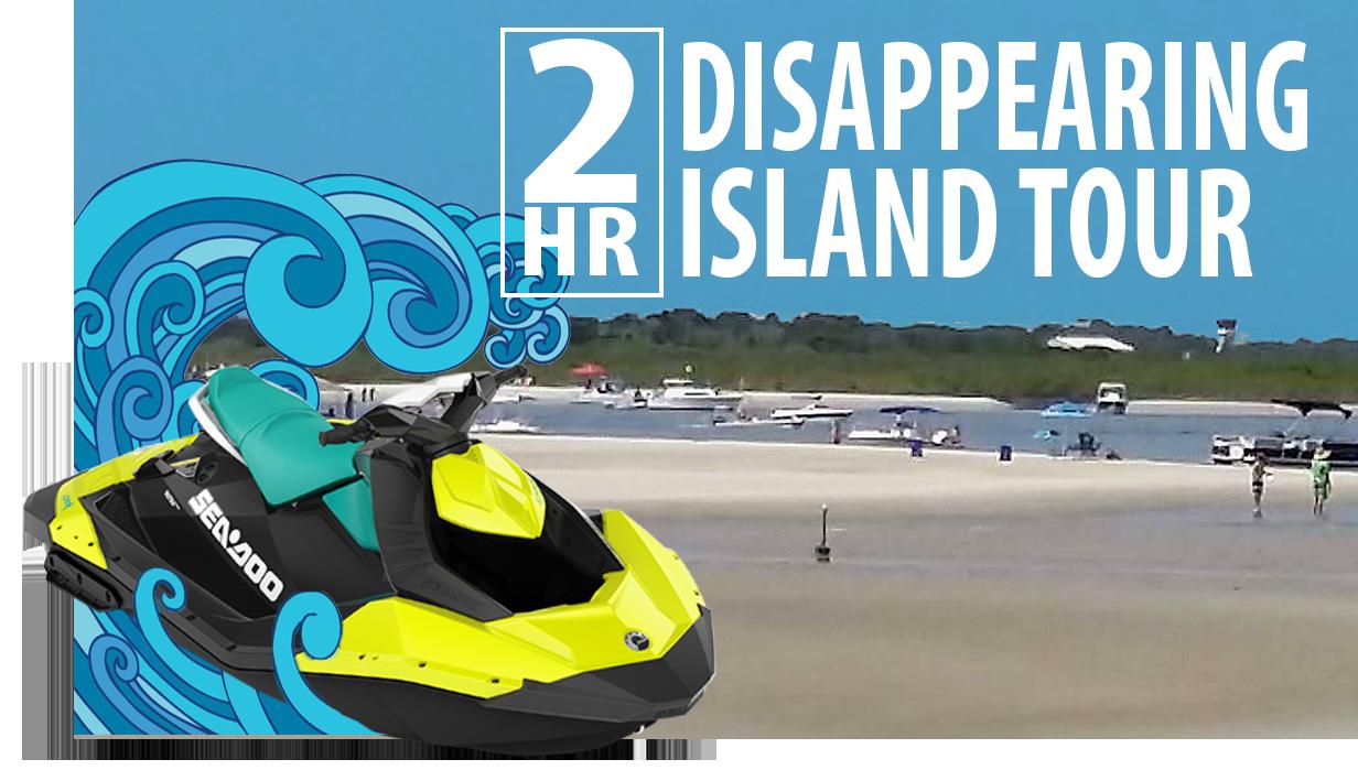 disappearing island tour sea doo rentals port orange