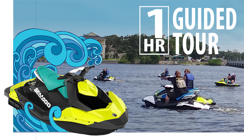 guided sea doo tours port orange rose bay water sports
