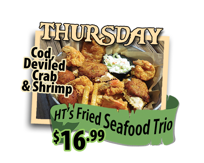Fried seafood trio thursdays hidden treasure restaurants