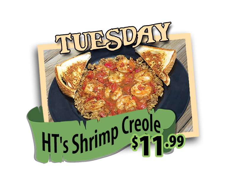 shrimp creole special every tuesday hidden treasure restaurants