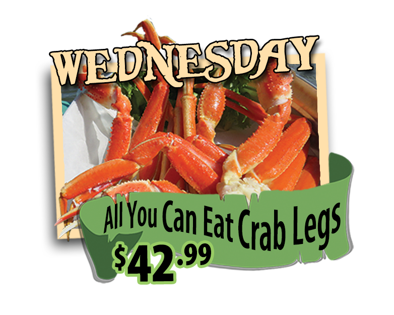 all you can eat crab legs hidden treasure restaurants wednesdays