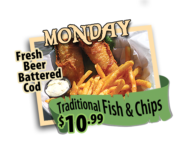 fish and chips mondays 10.99 hidden treasure restaurants