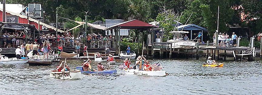 cardboard boat regatta hidden treasure rose bay port orange
